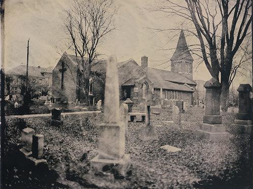 "St. John's Anglican Church & Cemetery, Sandwich, 15"" x 18"""