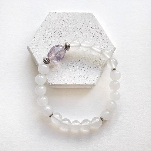 Bracelet - Clear & White