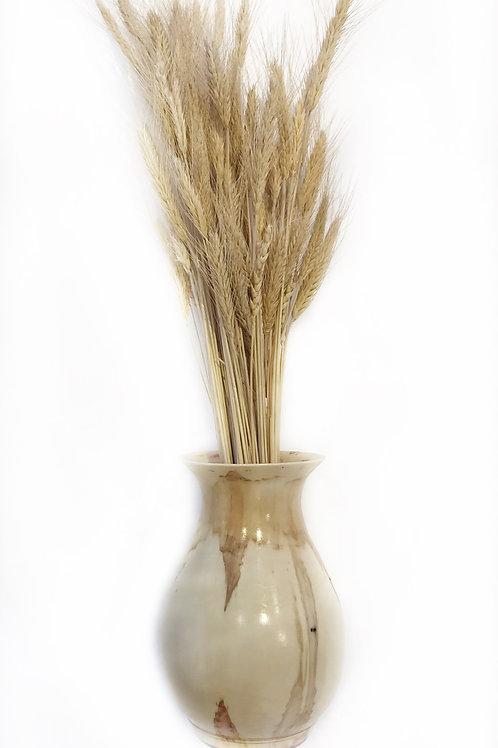"""Box Elder Vase With Wheat, 6 1/2"""" x 9"""""""