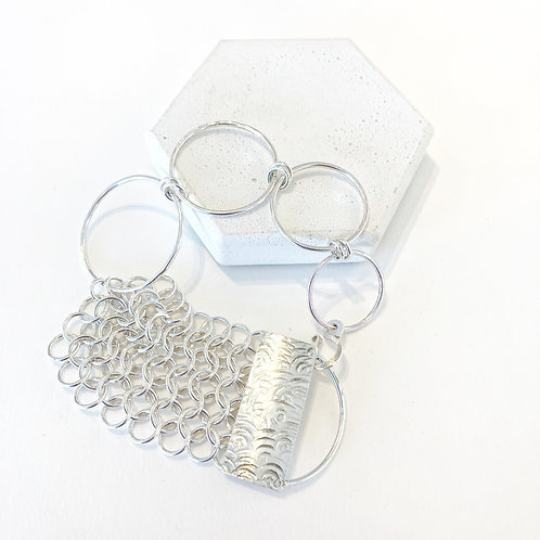 Bracelet - Large Hoops & Chainmail