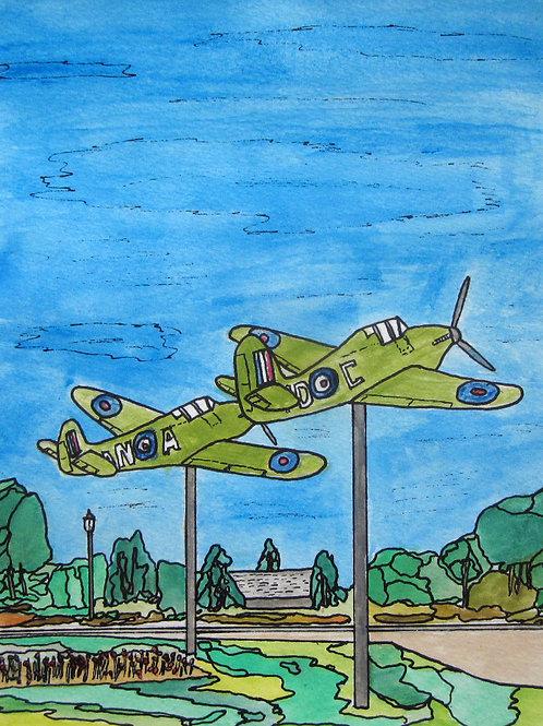 "Hurricane & Spitfire, 8"" x 10"""