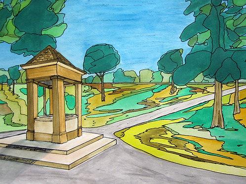"""View Of Willistead Park From Queen Victoria Garden, 18"""" x 20"""""""