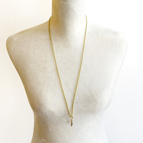 "30"" Yellow Gold Clip Chain Necklace"