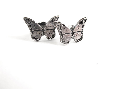 Earrings - Silver Butterfly Studs