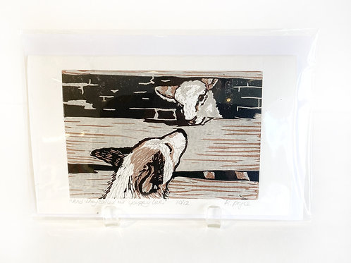 """Original Art Card - And They Called It Puppy Love, 5"""" x 8"""""""