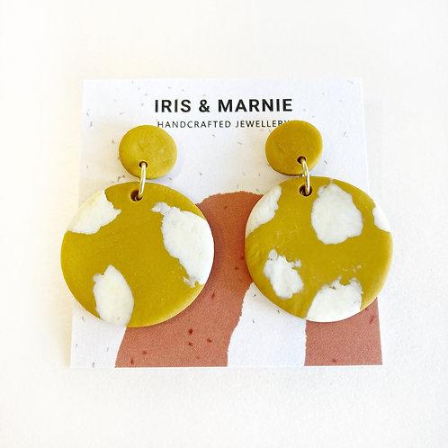 Earrings - Ochre Terrazzo Drops