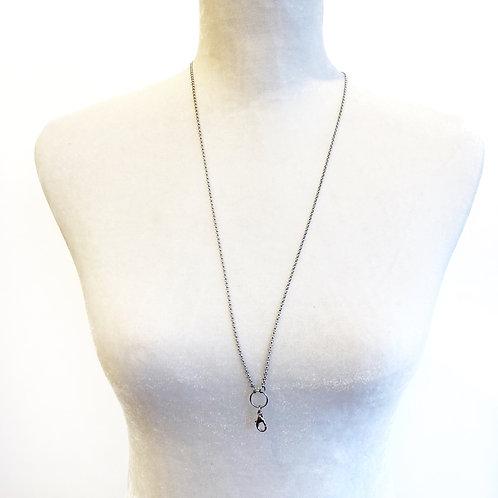 """30"""" Silver Clip Chain Necklace"""
