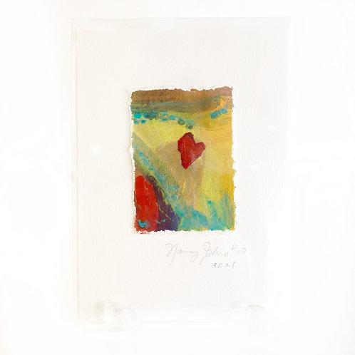 "Original Art Card #10 - 2021, 5"" x 7"""
