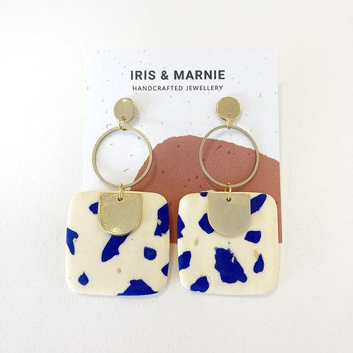 Earrings - Blue Terrazzo Drops