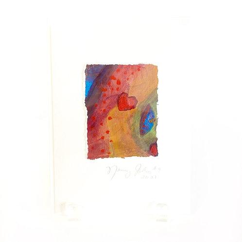 "Original Art Card #9 - 2021,  5"" x 7"""