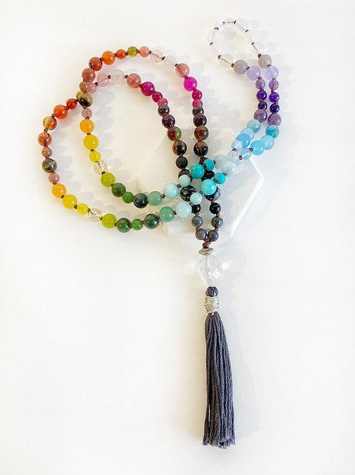 Necklace - Rainbow & Dark Grey