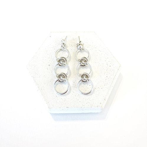 Earrings - Silver Dainty Barrel