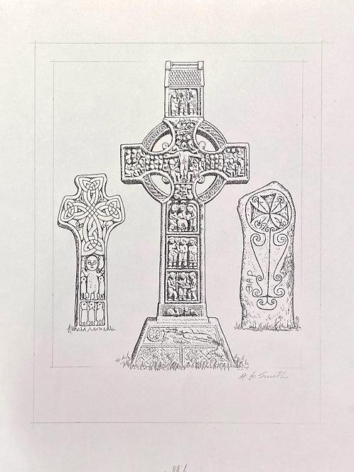"Celtic Cross, 11"" x 14"""