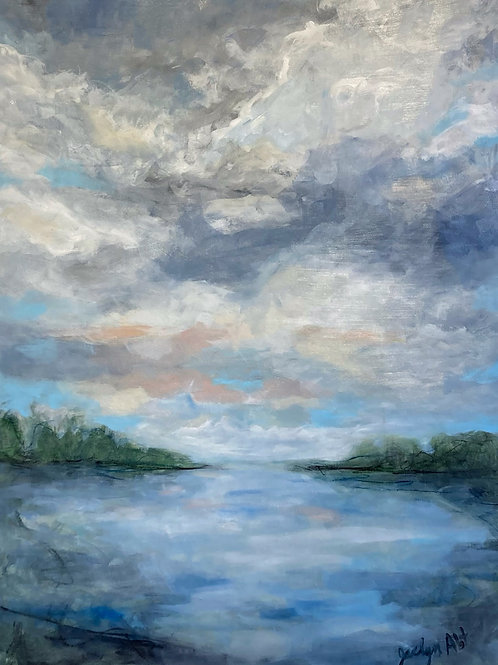 """RENTED - The Bay, by Jaclyn Abt, 36"""" x 48"""""""