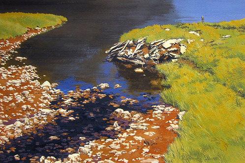 """Tidal Wash, Nova Scotia,  11"""" x 16"""""""