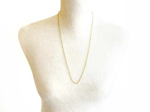 "24"" Yellow Gold Chain with Beads"