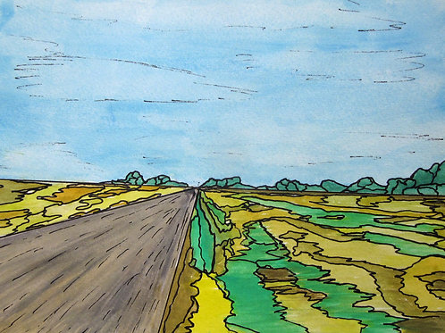 "Backroad Farms, Essex County, 8"" x 10"""