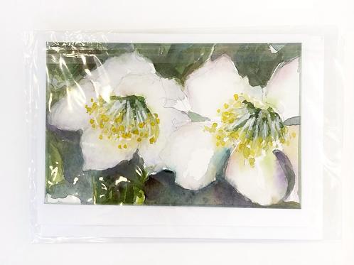 "Original Art Card - Hellibore, 5"" x 7"