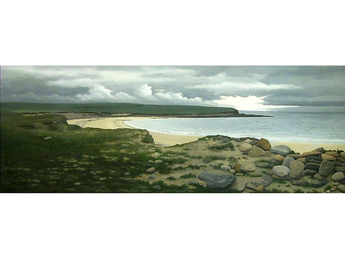 "Orkney Storm Passing, 17 1/4"" x 43 1/4"""