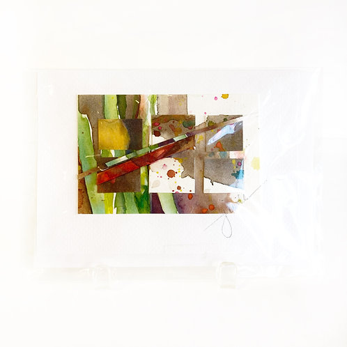 "Original Art Card #36, 5"" x 7"""