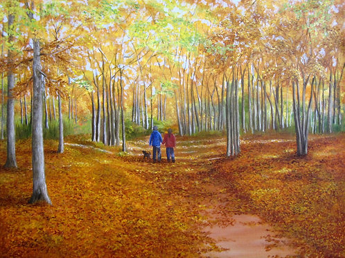 """A Walk In The Woods, 18"""" x 24"""""""