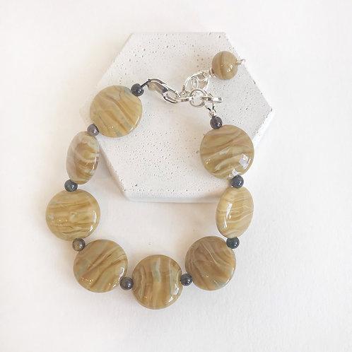Lampwork Bracelet - Caramel