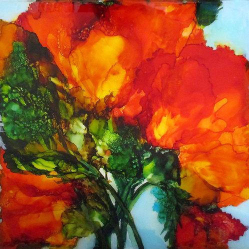"Floral Series 5, 20"" x 20"""