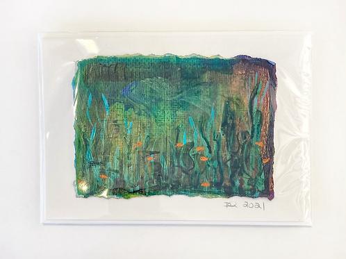 """Original Art Card - Crochet Series 4 ,  5"""" x 7"""""""