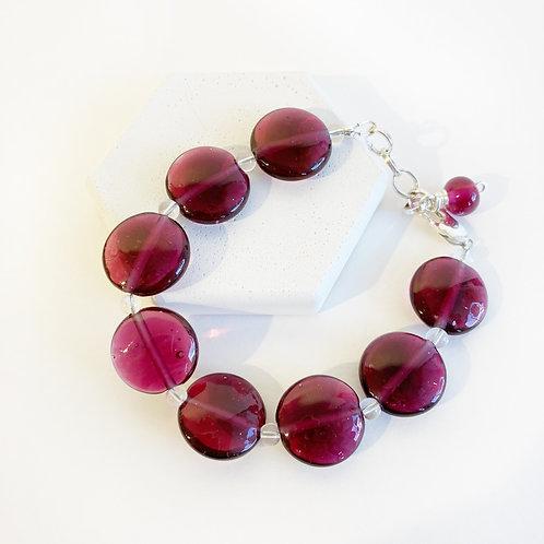Lampwork Bracelet - Burgundy