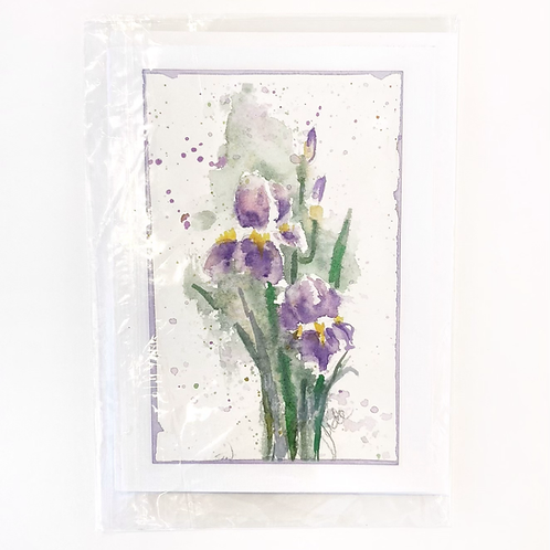 "Original Art Card - Iris #1, 5"" x 7"
