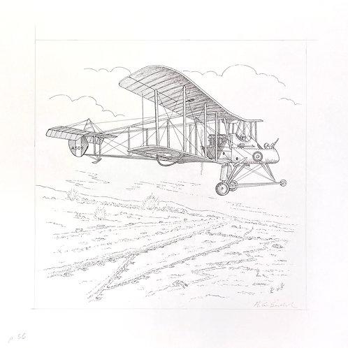 """Observation Plane c. 1915, 11"""" x 11"""""""