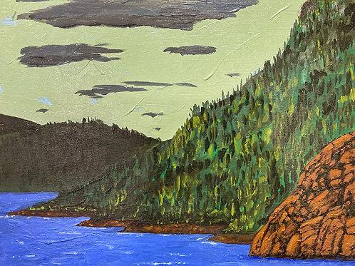 "View Of Woods Creek, 10"" x 12"""