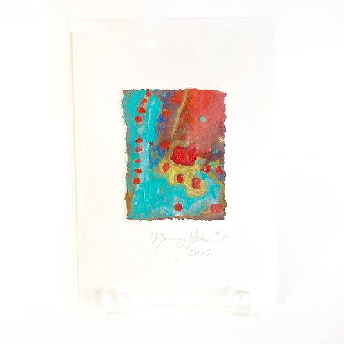 "Original Art Card #15 - 2021, 5"" x 7"""