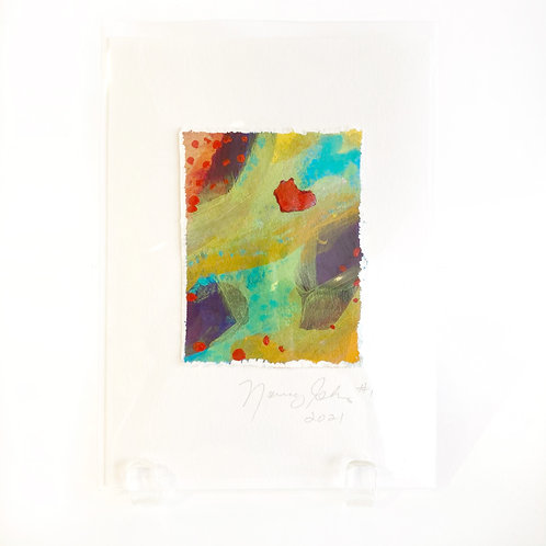 "Original Art Card #12 - 2021, 5"" x 7"""