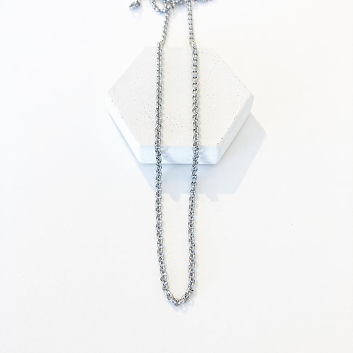 """27"""" Silver Chain Necklace"""