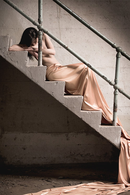 "Kim On The Steps Edition 5/50,  8"" x 10"""