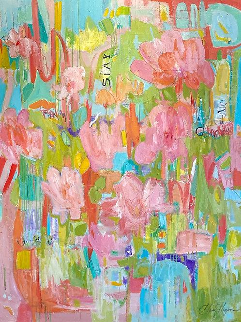 """Flower Graffiti, 48"""" x 60"""""""