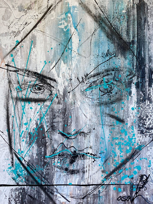 "Neon Sequence 1, by Asaph Maurer, 36"" x 48"""