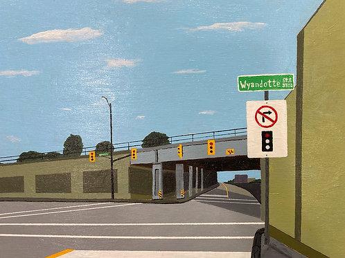 """View Of Rail Bridge, 10"""" x 12"""""""