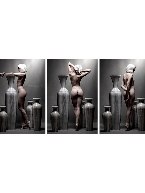 "Untitled Triptych, 19"" x 36"""