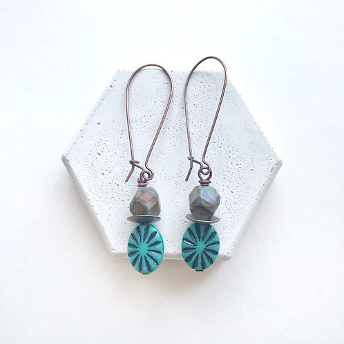 Earrings - Turquoise Stones