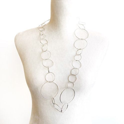 Necklace - Silver Large Hoops