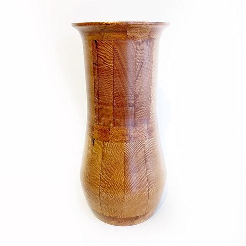 """Hiram Walker Douglas Fir Beam Vase, 5"""" x 10"""""""
