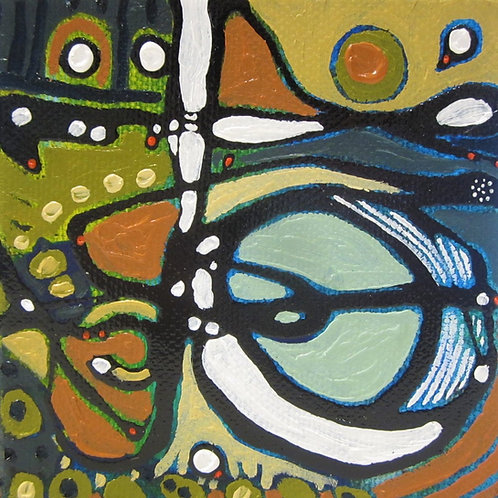 """The Unearthing, 4"""" x 4"""""""