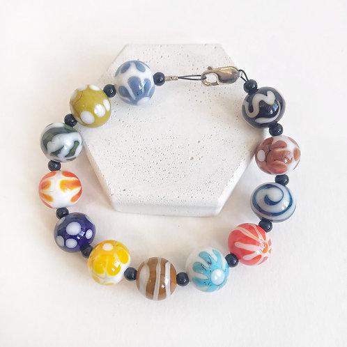 Lampwork Bracelet - Multi-Colour