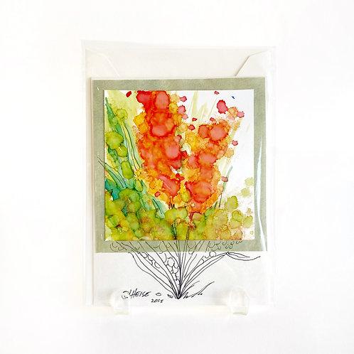 "Original Art Card #14, 5"" x 6 3/8"""