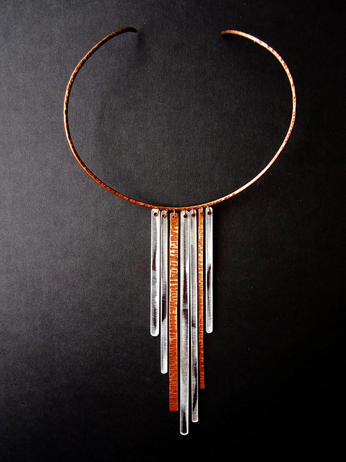 Necklace - Clear Acrylic and Copper
