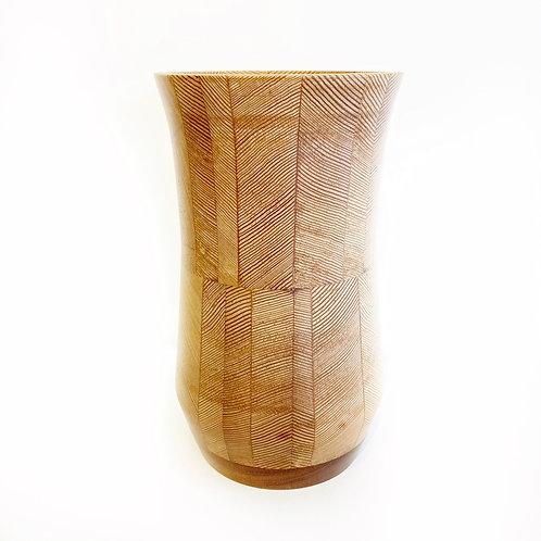 """Hiram Walker Douglas Fir Beam Vase, 5"""" x 9"""""""