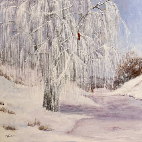 """Willow In Winter, 24"""" x 24"""""""