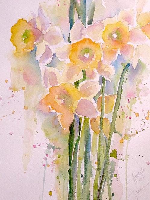 "Daffodils, 16"" x 20"""